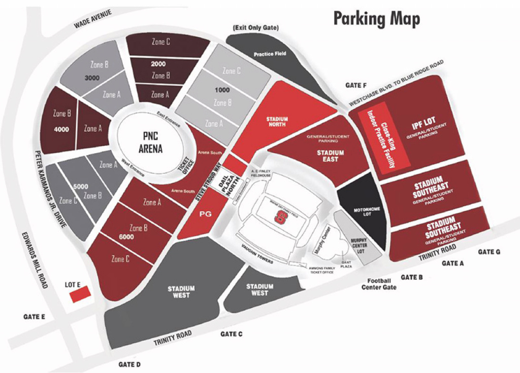 Online Ticket Office | Seating Charts inside Nc State Football Parking Map