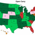 Open Carry – Nevada Carry intended for States That Allow Open Carry Map