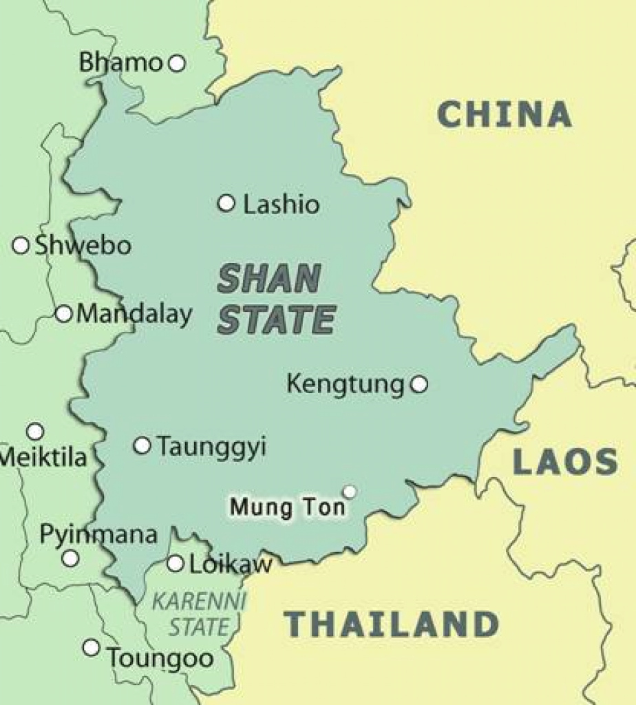 Oppression: Burma Army Militarization And The Use Of Proxies In regarding Eastern Shan State Map
