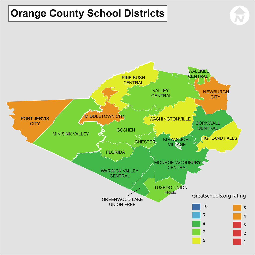 Orange County Ny School Districts - School Information And District inside New York State Fire District Map