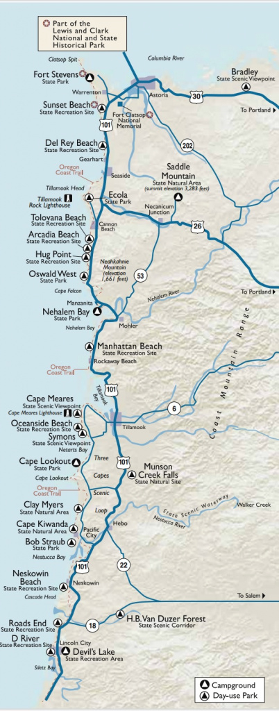 Oregon Coast Camping — Wandervans intended for Oregon State Parks Camping Map