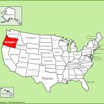 Oregon Location On The U.s. Map For Is State Map