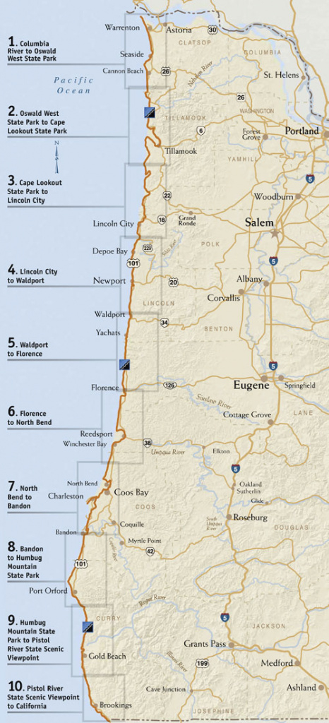 Oregon Parks And Recreation Department: State Parks Oregon Coast with regard to Oregon State Parks Map