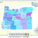 Oregon State Map Community Assistance Activates Stock Vector In Google Maps Welcome To State Icons