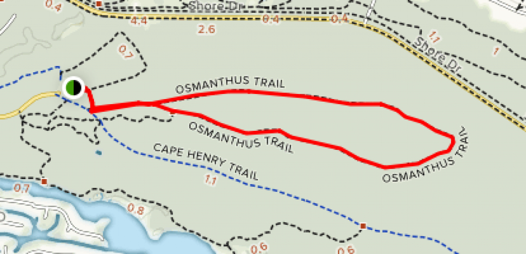 Osmanthus Trail - Virginia | Alltrails in First Landing State Park Trail Map