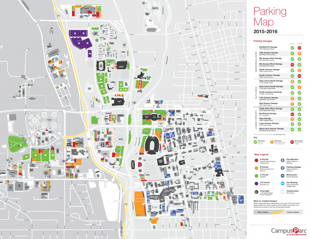 Osu Campus Parking Map | Engineering Summer Experience with regard to Ohio State Parking Map
