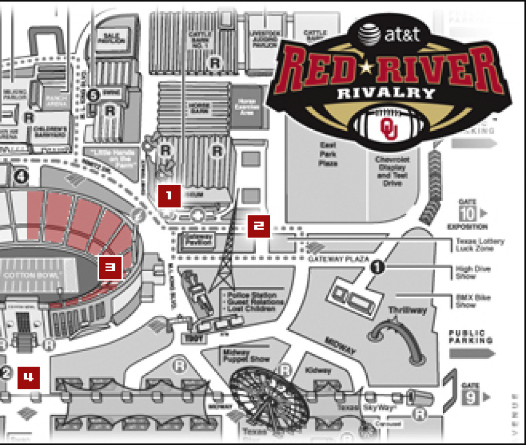 Ou-Texas: Frequently Asked Questions - The Official Site Of Oklahoma for Texas State Fair Map Pdf