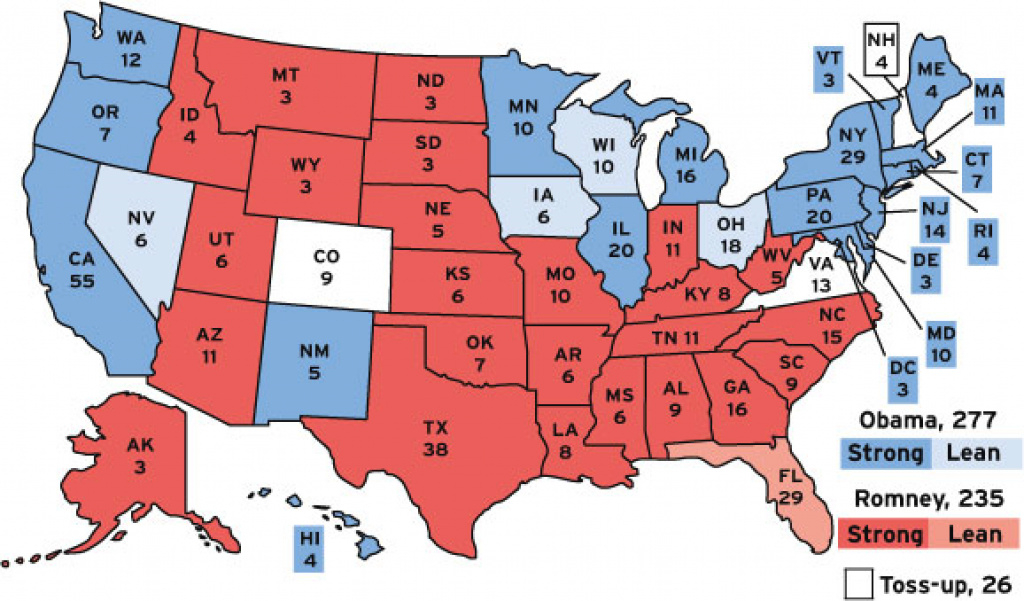 Our Forecast: Obama Likely To Win in Map Of States And Electoral Votes