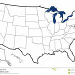 Outline Map Of United States Stock Illustration   Illustration Of Within Great Lakes States Outline Map