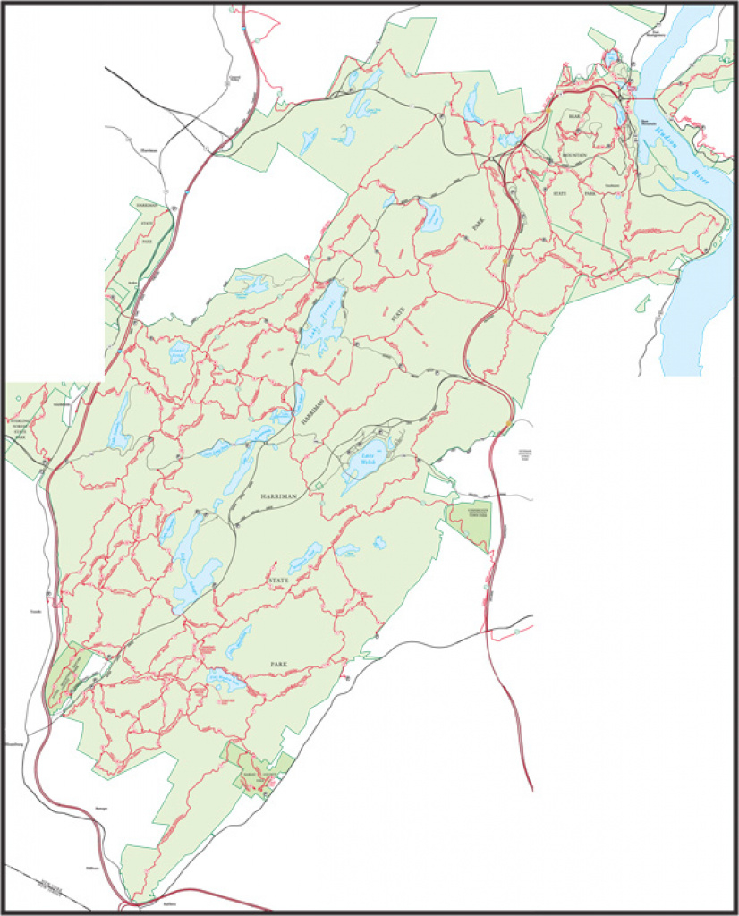 Overview Map - Harriman Trails | New York-New Jersey Trail Conference within Harriman State Park Trail Map