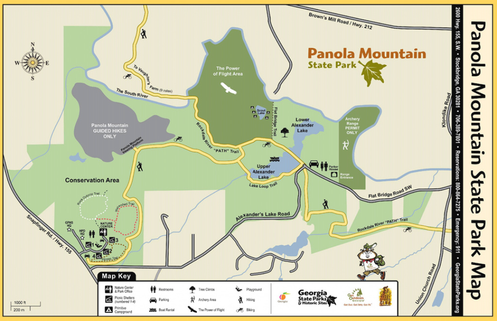 Panola Mountain State Park Walking Trails | Arabia Mountain National in Georgia State Parks Map