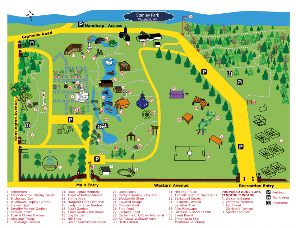 Park Maps - Stanley Park Westfield Ma with Westfield State Map