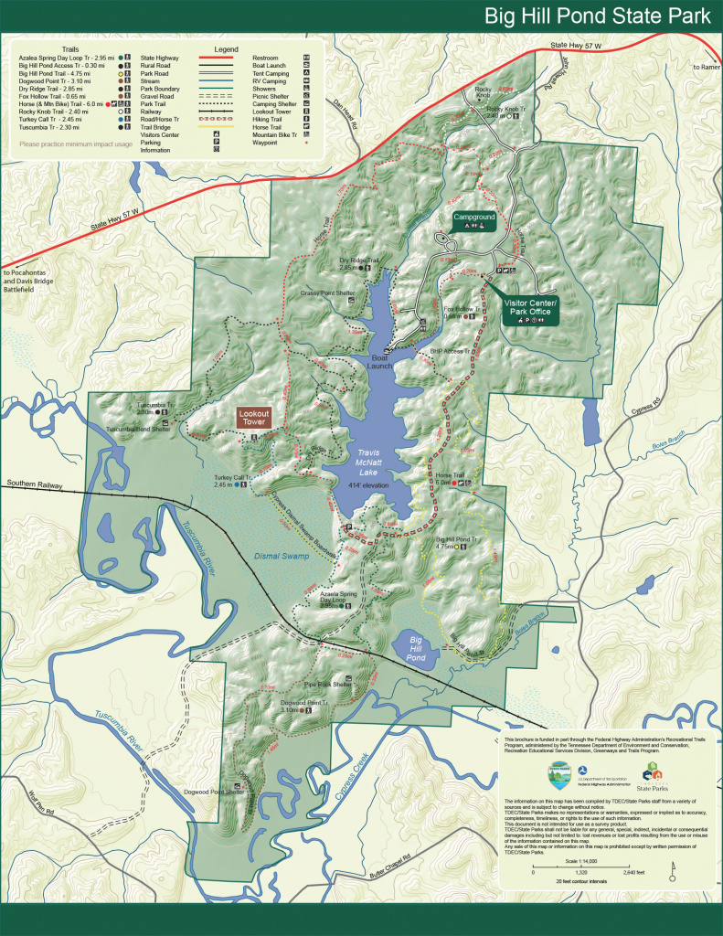 Park Trail Maps — Tennessee State Parks for Tennessee State Parks Map