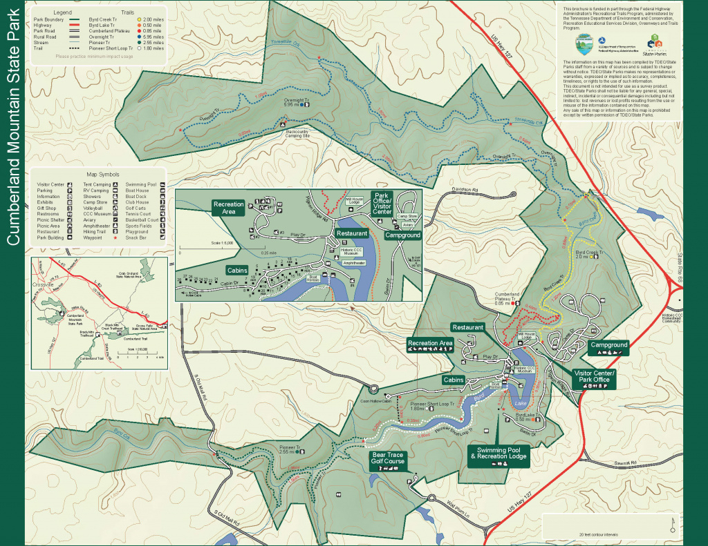Park Trail Maps — Tennessee State Parks throughout Oak Mountain State Park Trail Map