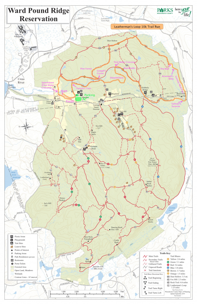 Park Trail Maps – Westchester County (Or Nearby) – The Leatherman's Loop intended for Taconic State Park Trail Map
