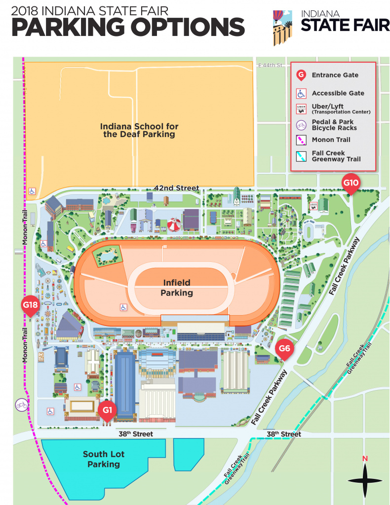 Parking - Indiana State Fair for Indiana State Fair Map