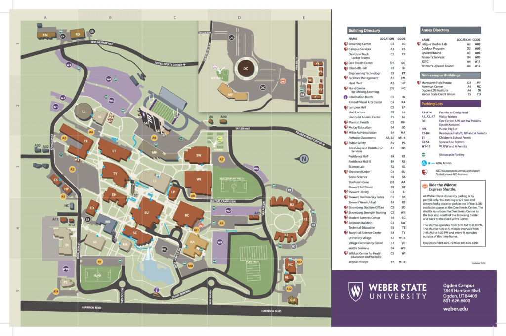 Parking Map in Weber State Map