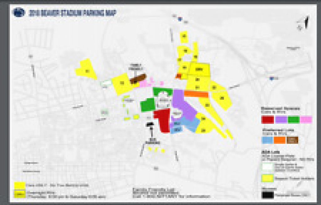 Parking Passes For Sale | Ebay throughout Penn State Football Parking Map 2017