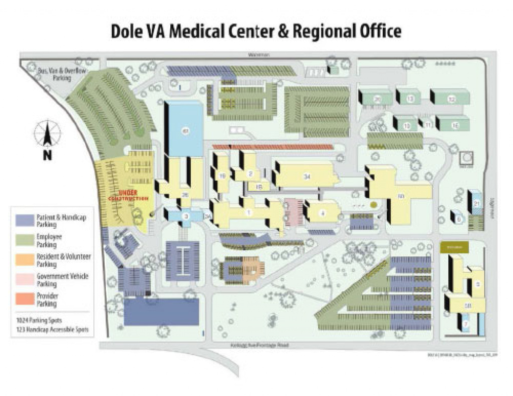 Parking - Robert J. Dole Va Medical Center regarding Wichita State Parking Map