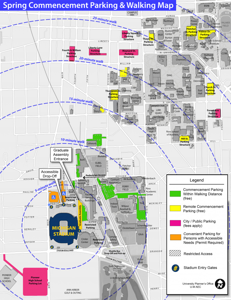 Parking & Walking Map | Spring Commencement intended for Michigan State Football Parking Lot Map