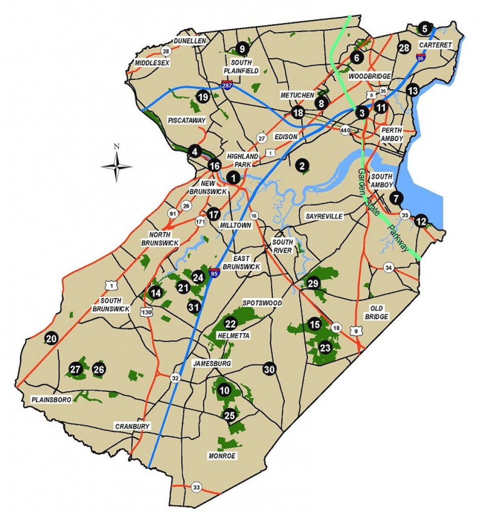 Parks & Rec | Central Jersey Convention & Visitors Bureau for Nj State Parks Map