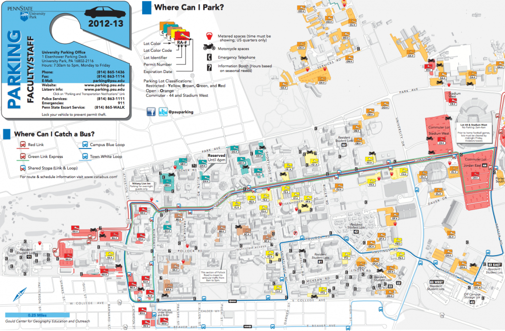 Part Iv: Map Purpose And Audience throughout Penn State Parking Lot Map