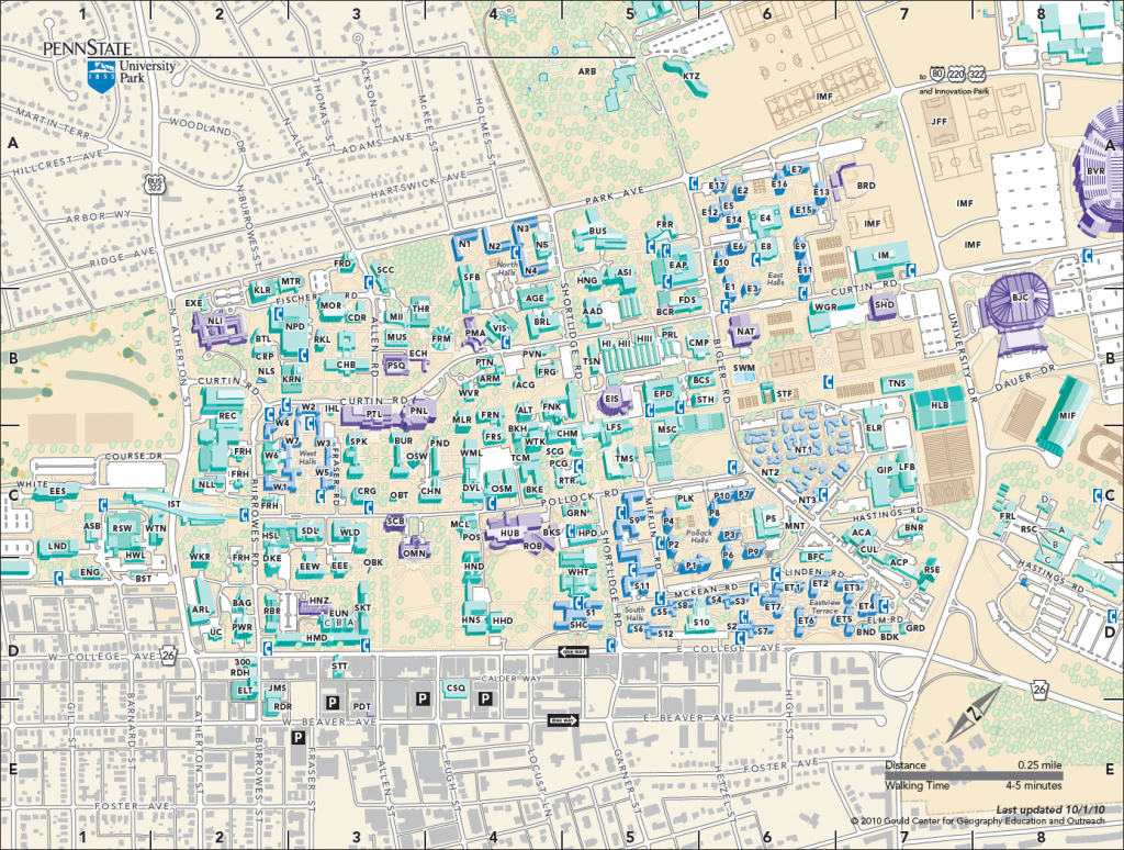 Part Iv: Map Purpose And Audience with Penn State University Park Campus Map