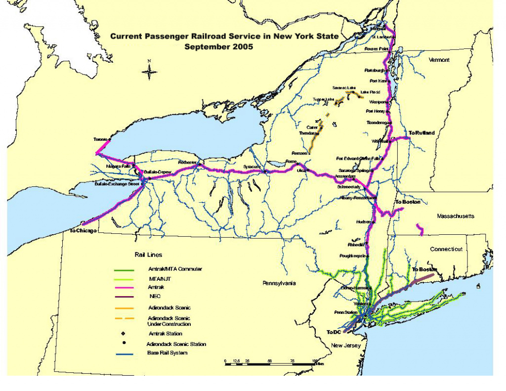Passenger Rail Repository intended for New York State Map Pdf