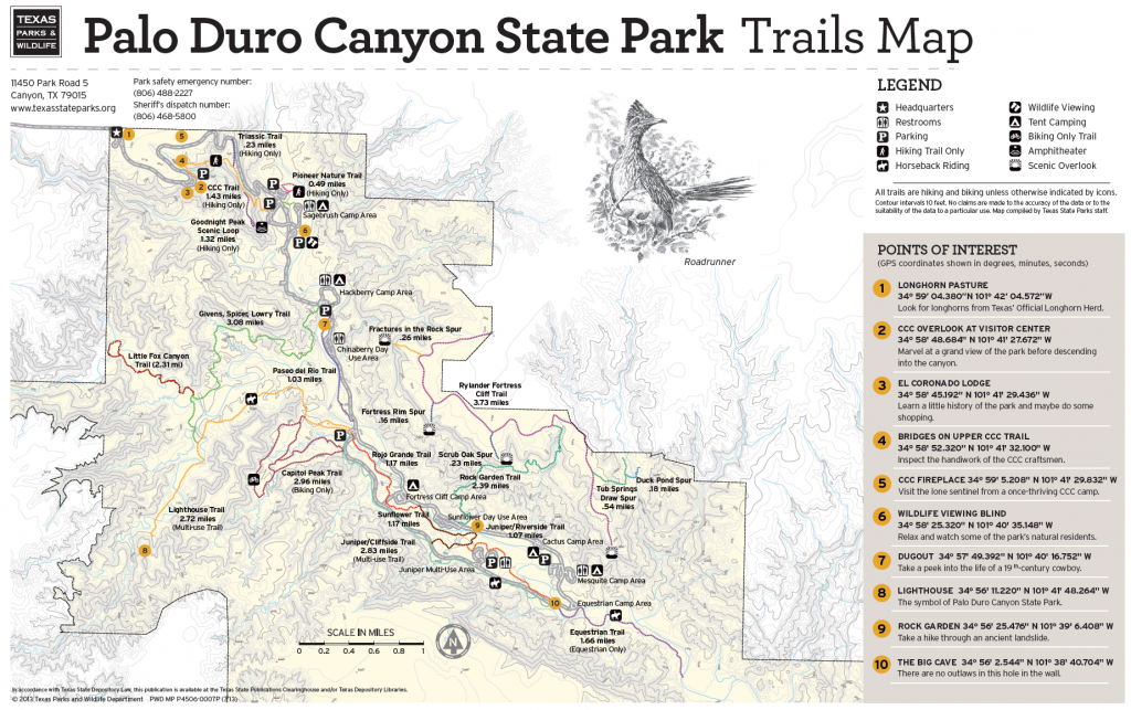 Pdc Trail Map | Texas | Pinterest | Trail, Trail Maps And Palo Duro throughout Palo Duro Canyon State Park Trail Map