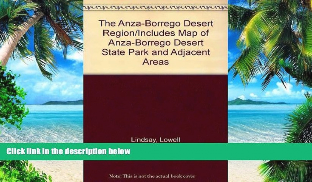Pdf The Anza-Borrego Desert Region/includes Map Of Anza-Borrego within Anza Borrego Desert State Park Map Pdf