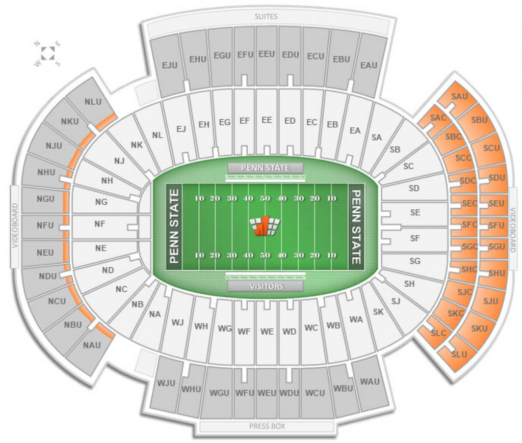 Penn State Football Beaver Stadium Seating Chart - Rateyourseats for Penn State Football Stadium Seating Map With Rows