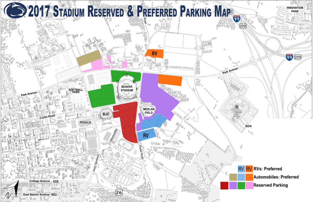 Penn State Football Parking Map | Helderateliers pertaining to Penn State Football Parking Map 2017