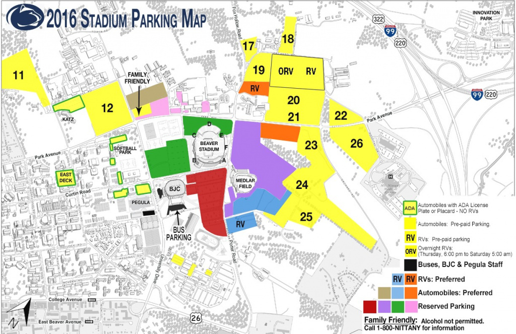Penn State Football Parking Map | Map 2018 with regard to Penn State Football Parking Map 2017
