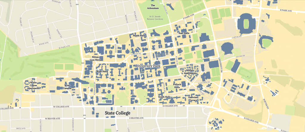 Penn State Map | Penn State University #psu in Penn State Building Map