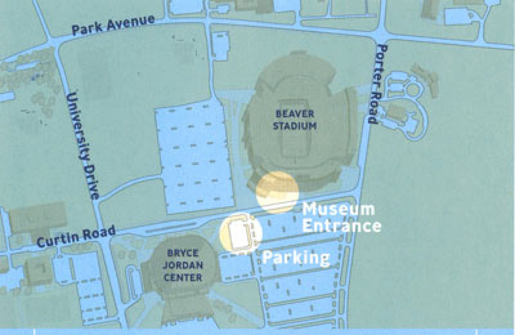 Penn State Museum - Visitor Info - Penn State University regarding Penn State Football Parking Green Lot Map