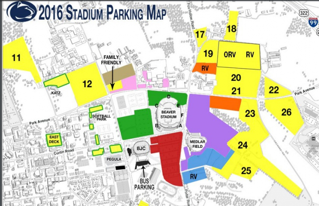 Penn State Parking Map Ced72Bd3436Abac1 At Psu | Buildyourownserver in Penn State Stadium Parking Map
