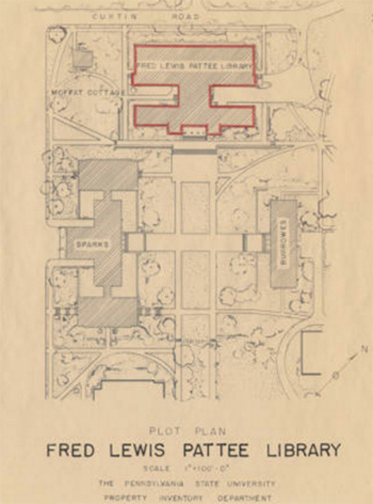 Penn State University Park Campus History Collection | Penn State in Hosler Building Penn State Map