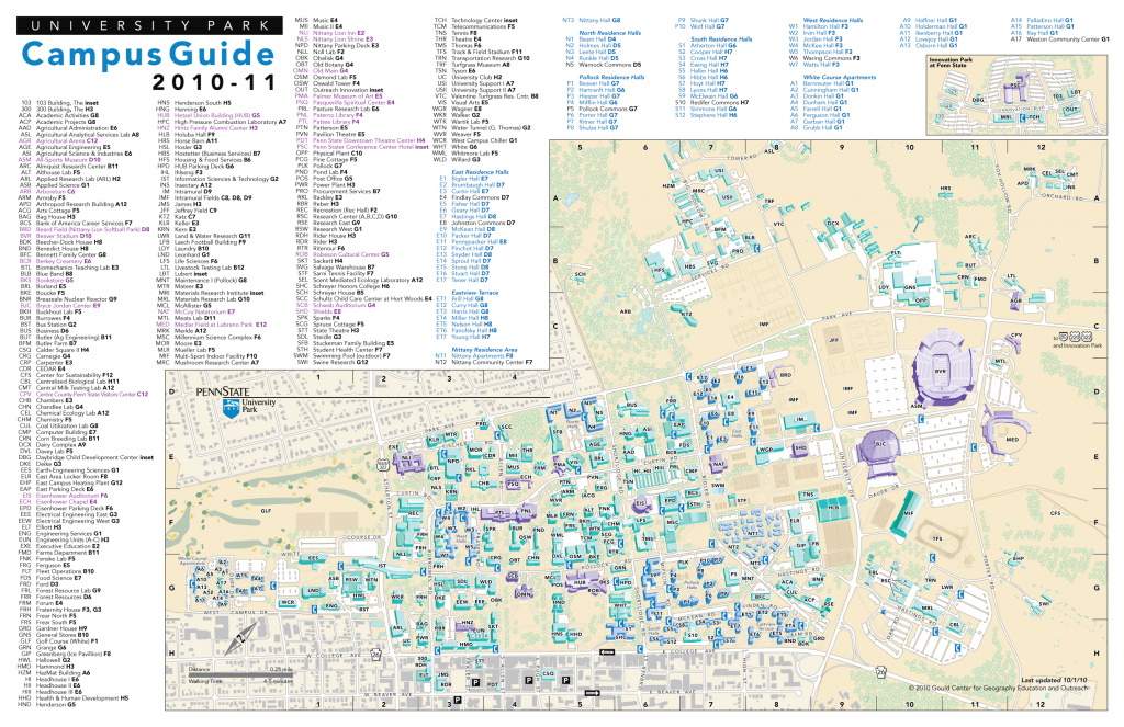 Penn State University Park Campus Maps - Download The Maps In Pdf regarding Penn State Building Map