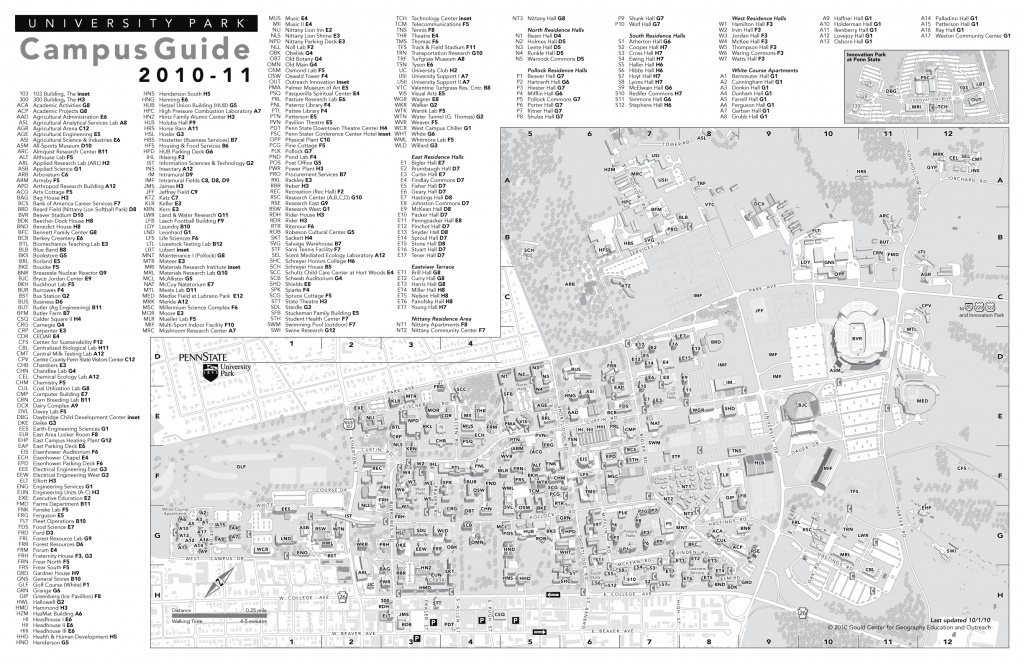 Penn State University Park Campus Maps - Download The Maps In Pdf with Penn State Building Map