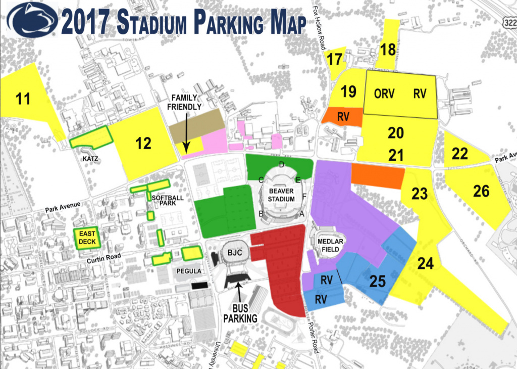 Penn State Vs Ohio State Orange Parking Pass - $95.00 | Picclick with regard to Penn State Football Parking Green Lot Map