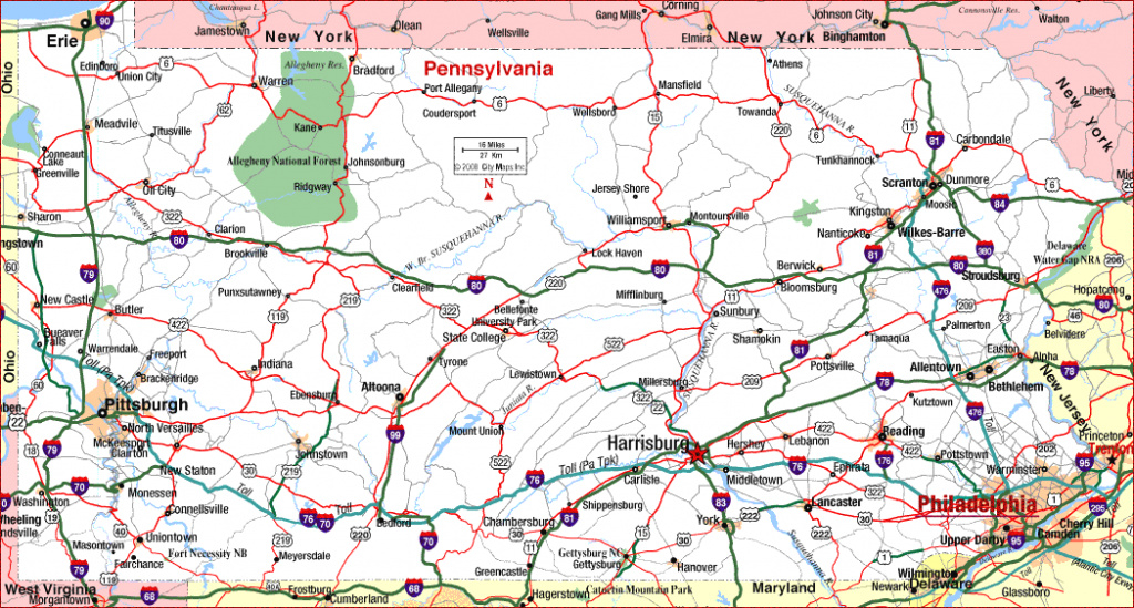 Pennsylvania Marvelous Maps Of Pa - Collection Of Map Pictures in Road Map Of New York State And Pennsylvania