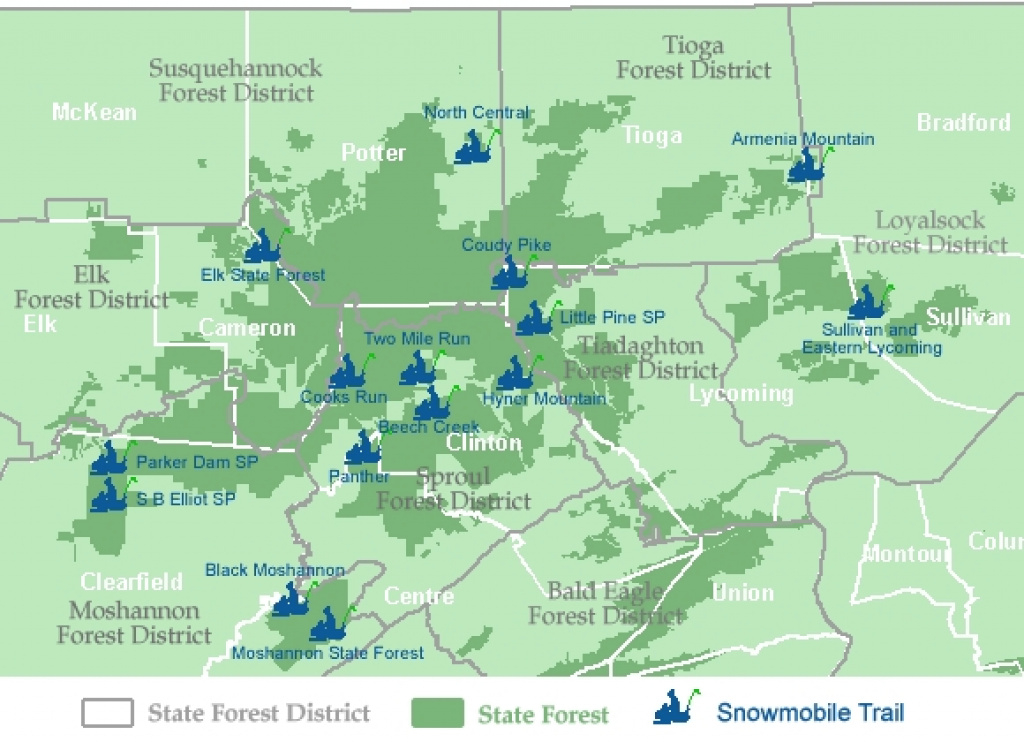 Pennsylvania Snowmobile/atv Vehicle Owner Portal in Rb Winter State Park Trail Map