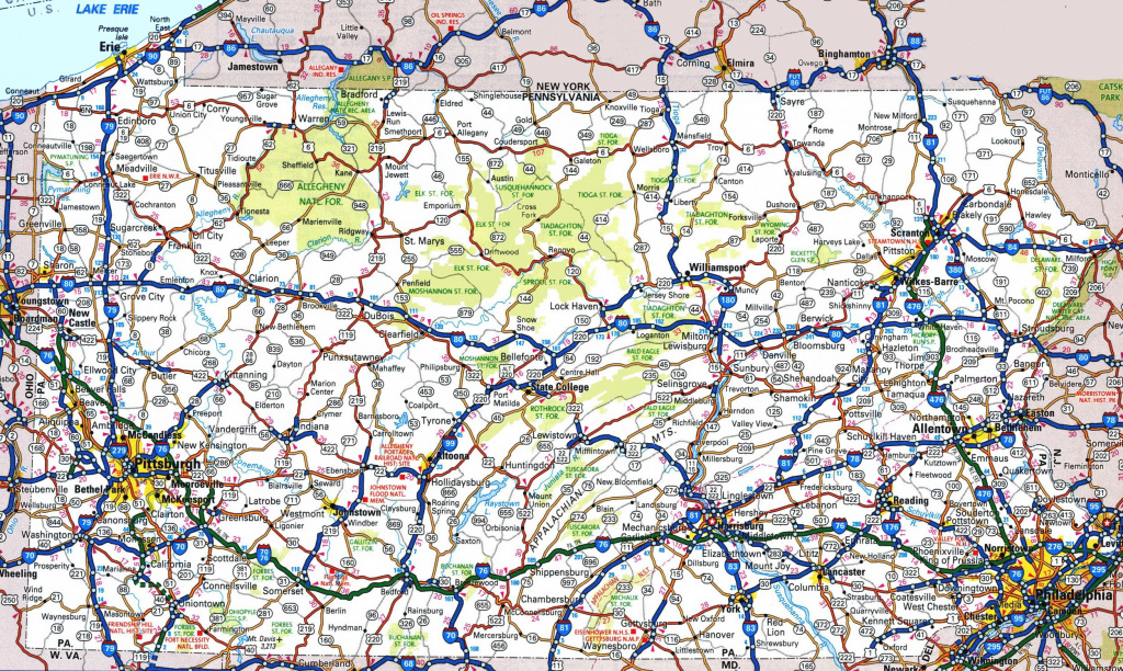 Pennsylvania State Maps | Usa | Maps Of Pennsylvania (Pa) regarding Road Map Of New York State And Pennsylvania