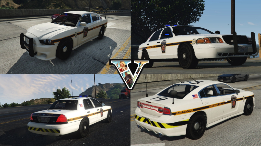 Pennsylvania State Police Cvpi And Charger Textures - Gta5-Mods throughout Pa State Police Barracks Map