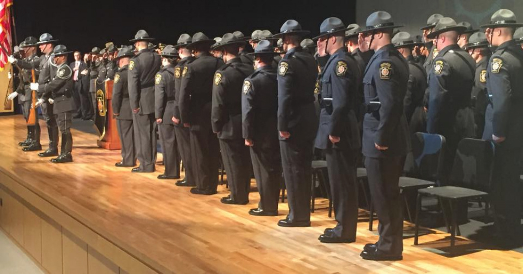Pennsylvania State Police Welcomes 90 New Troopers : Explorevenango pertaining to Pa State Police Troop Map