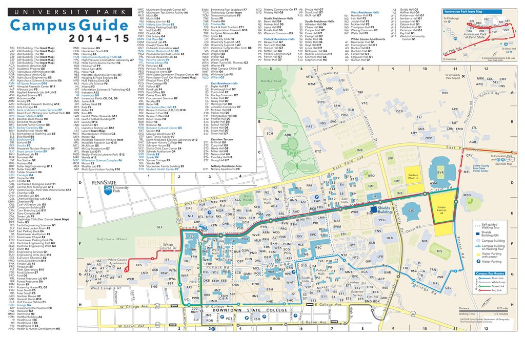 Pennsylvania State University - Maplets intended for Penn State University Park Campus Map