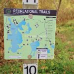 Photo Of Seven Lakes State Park, Michigan   Trail Map For Hikers At With Regard To Green Lakes State Park Trail Map