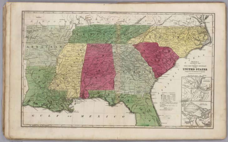 Physical Map Of The Southeast United States