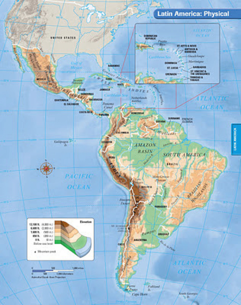 Physiographic Map Of Latin America Directions - Mr. Boushey's Classroom pertaining to Physiographic Map Of The United States