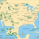 Physiographic Map Of Usa With National Parks | Einfon Intended For Physiographic Map Of The United States